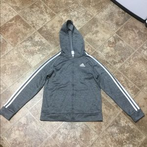 Adidas Zipper Hoodie Jacket Youth Sz Medium 10/12